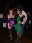 Friday night - Britta & Melanie at Alice Radio's Mardi Gras Party at Ruby Skye