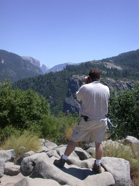 Ben's first view of Yosemite Valley