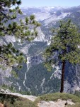 Tons of water in Nevada Falls and Vernal Falls - view from Glacier Point