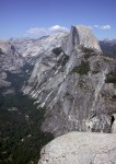 Halfdome from the very edge of Glacier Point