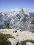 Halfdome from the top of Glacier Point