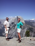 Ben & Britta at the top of Glacier Point