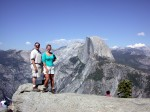 Ben & Britta at the top of Glacier Point (with self-timer vs. poor tourist who couldn't aim my camera properly)