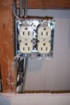 Fire hazard anyone? See the tape splicing the wire together?!? - June 2009