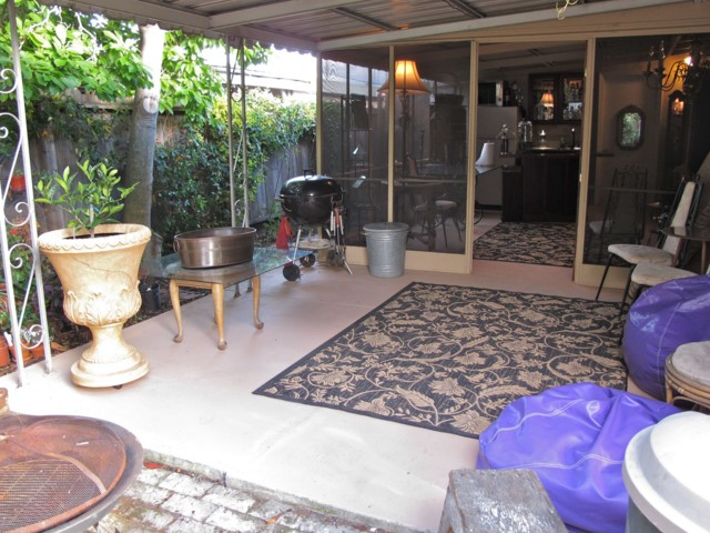 finished outer patio - May 2010