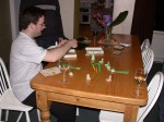 Thu Dec 30 13:44:09 2004 Nick and Clare struggled to play table cricket...