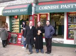 Fri Dec 31 08:02:31 2004 Dave, Clare & Nick in front of the seaside pasty shop