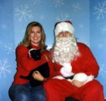 Since Kylie's annual shots are early December & Santa just happens to be at PetSmart, we take our photo so the proceeds can go to charity...cute Kylie! :)