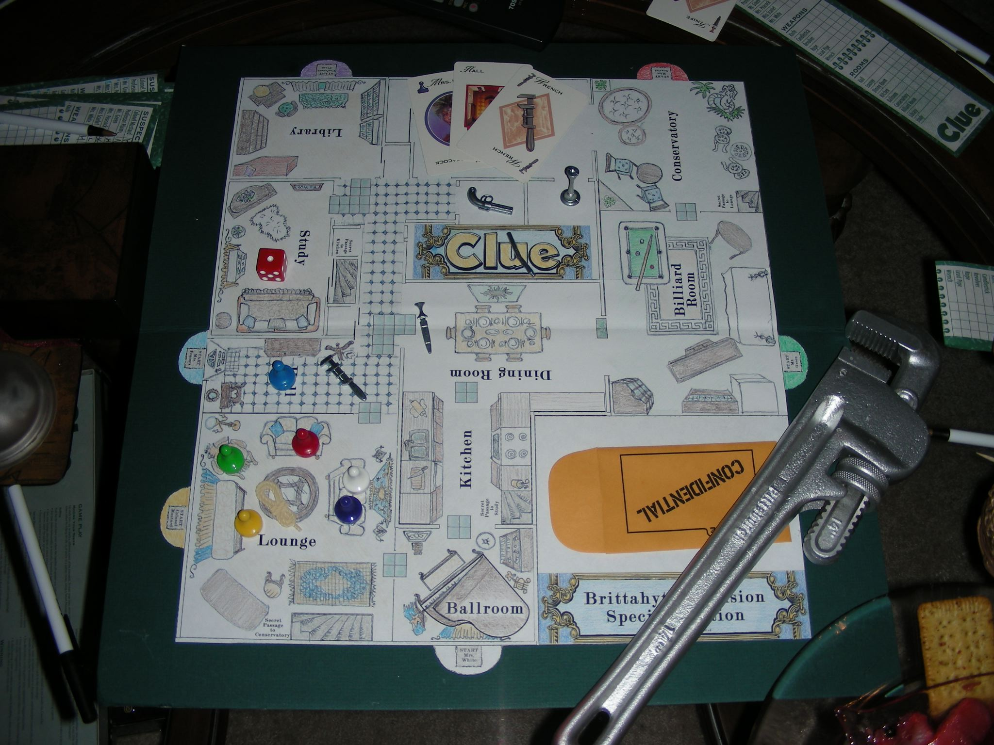 Custom Clue Game Board 2008
