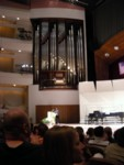 Shiny new pipe organ - look at the size of those pipes!