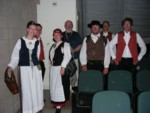 Intermission backstage - members of Oulu from Finland pose for me - their conductor Kari already changed clothes! ;)