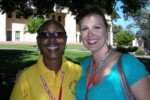 Bettie from Uganda & Britta, proudly wearing my new pretty beads from Uganda! Thanks Ruth!
