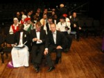 International tenors on stage in rehearsal for the finale concert Sunday night