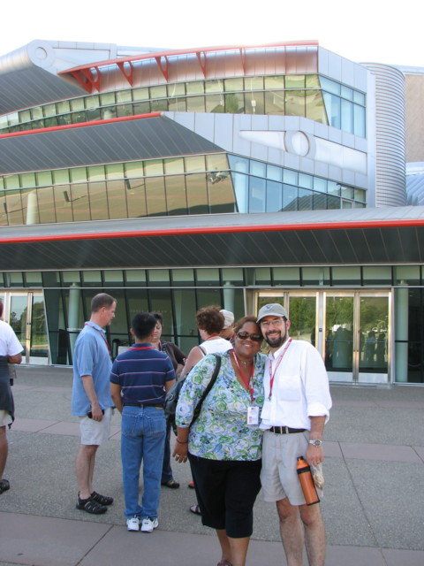 Jua and Kevin in front of the PAC