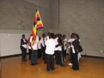 Christ the King choir with their flag