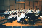 The Choral Project performing in a clinic session at ACDA Western Region Conference, March 2000