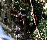 Kat on the canopy tour in Costa Rica