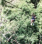 Lilly on the canopy tour in Costa Rica