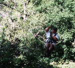 Matt on the canopy tour in Costa Rica