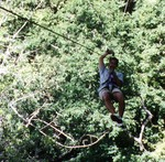Ryan on the canopy tour in Costa Rica