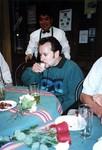 Daniel drinking a tequila popper in Oaxaca
