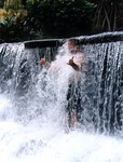 Matt in the waterfall at Tabacon Hot Springs, Costa Rica