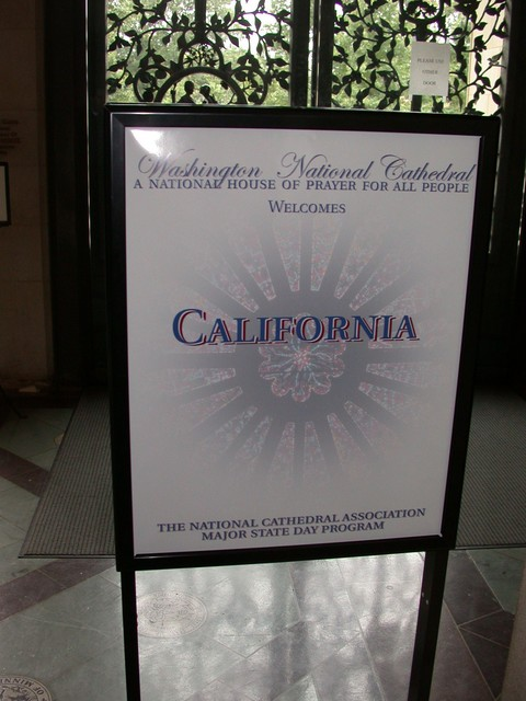 California State Day at the National Cathedral, Washington DC