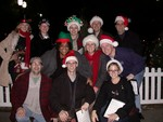 Caroling at Christmas in the Park in San Jose (Dec 19th, 2005) From top left: Britta, Robin, Nathania, Jack, Ben, Juanita, Sheila, Johnathon, Kevin, Bill, Melanie