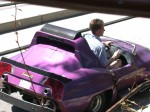 Andy driving in the Autopia
