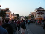 Main Street in the fading Thursday evening light