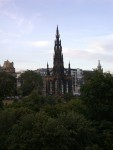 The spire memorial in Princes Street Park