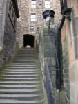 We took Princes St from our hotel along the park, then up the Playfair Steps, then through this alley to get to the Royal Mile.
