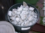 The concrete scrap that is too small to save is filling up my extra garbage can for now...