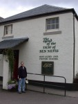 Ben in front of the Ben Nevis distillery
