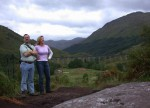 Ben & Britta by the Glenfinnan Viaduct - one week late for the Hogwarts Express ;)