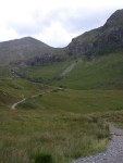 The path through Glencoe up into the Lost Valley