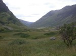 Looking back along Glen Coe