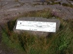 Plaque showing what we're looking at across Loch Torridon