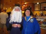 Jen and Dumbledore at Borders.