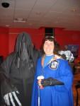 Jen and Dementor Ben at Borders.