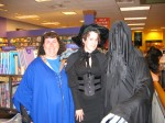 Jen, Dementor Ben and a with in a corset.