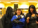Dementor Ben, Jen and Bellatrix-Britta at Borders.