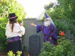 Dumbledore, gloating over Riddle's grave?