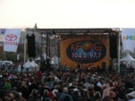 Guster playing on stage