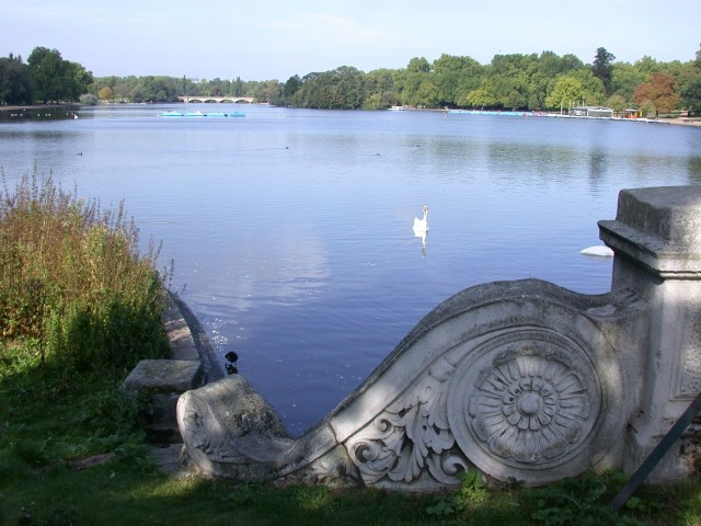 View of the Serpentine from the south end in Hyde Park