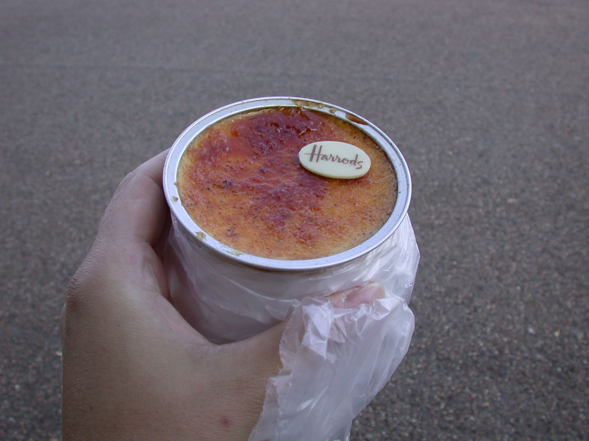 My Harrods creme brulee