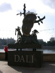 Sculpture to advertise the Dali exhibition