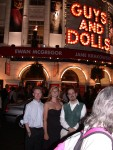 Andy, Britta & Ben at Guys & Dolls