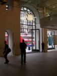 London Apple store - proof! See the red double-decker bus & the Union Jack flag?