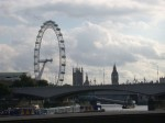 The London Eye, Parliament Tower and Big Ben from the Victoria Embankment